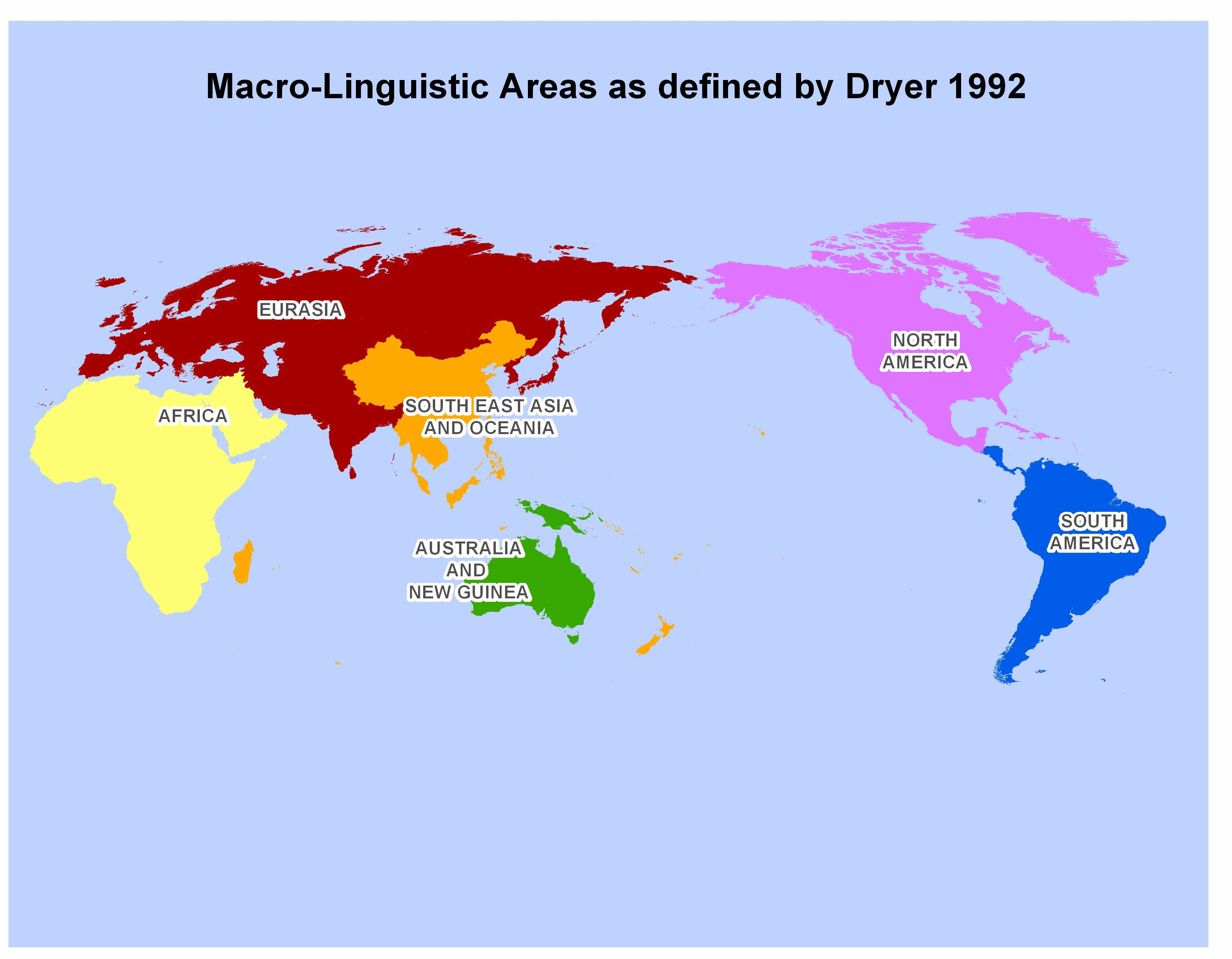 Ljubas Map Collection - Linguistic map of the world